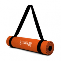 Tapete Yoga 10mm Naranja 180X60cm con Correa STINGRAY FITNESS SFTAP-10MM-CB-O