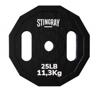 Disco para barra STINGRAY 25 lbs./11.34 kgs de acer