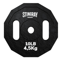 Disco para barra STINGRAY 10 lbs./4.53 kgs de acero