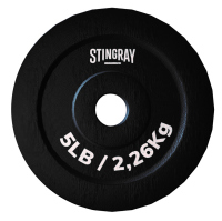 Disco para barra STINGRAY 5 lbs./2.26 kgs de acero