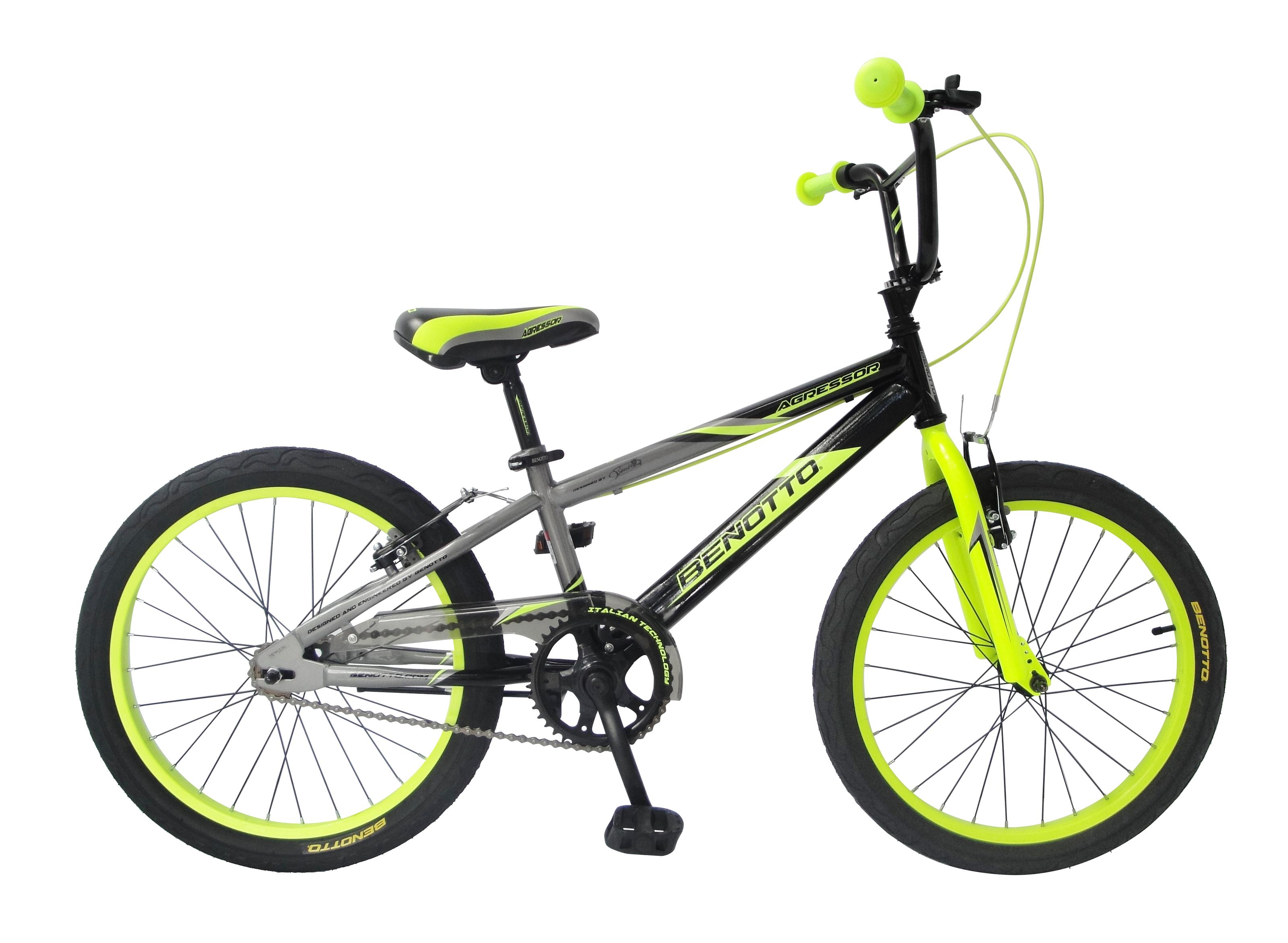 """Bicicleta BENOTTO Cross AGRESSOR R20 1V. Niño Frenos """"V"""" Acero Negro ..."""