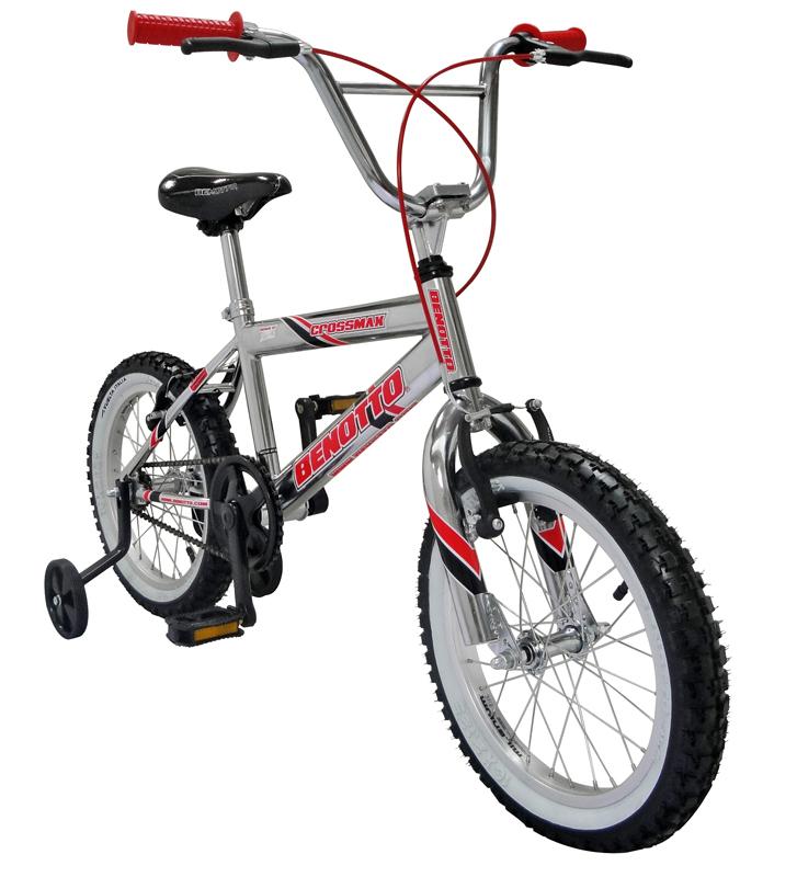 Bicicleta BENOTTO CrossMax R16 1V Cromada Ruedas Laterales - Benotto ...